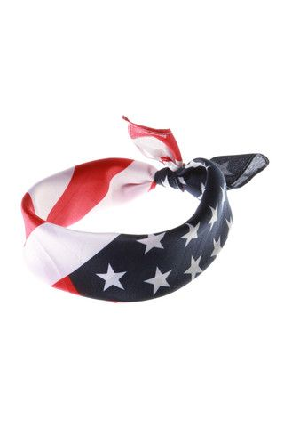 American Flag Bandana  | Get your USA gear and all manner of outrageous threads at Shinesty.com