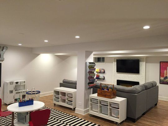 Before & After: Lacey's Multifunctional Basement — The Big Reveal Room Makeover Contest 2015 | Apartment Therapy