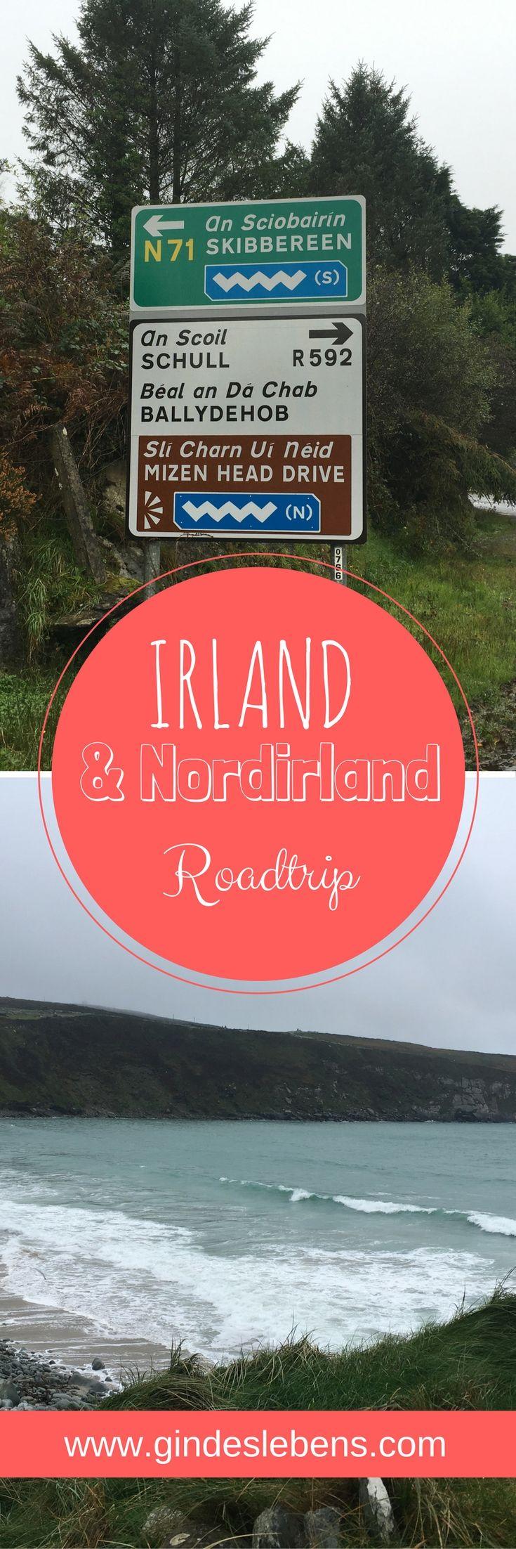 Irland und Nordirland Roadtrip im Oktober nur was für Verrückte? Vom Winde verweht. Land unter. Wildes Irland. All dies trifft genau auf unseren Irland und Nordirland Roadtrip zu. Wir waren nun bereits mehrmals in der Regenzeit in der Karibik und hatten noch nie viele Regentage, geschweige denn einen Hurrikan. Dann reisen wir nach Irland und was passiert: Hurrikan, Starkregen und ein Sturmtief. Im Beitrag gibt's auch eine Karte mit unserer Route. www.gindeslebens.com #Roadtrip...