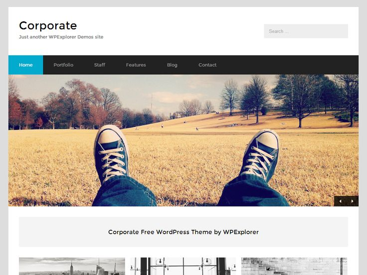 Corporate - Free WordPress Theme for Business Sites
