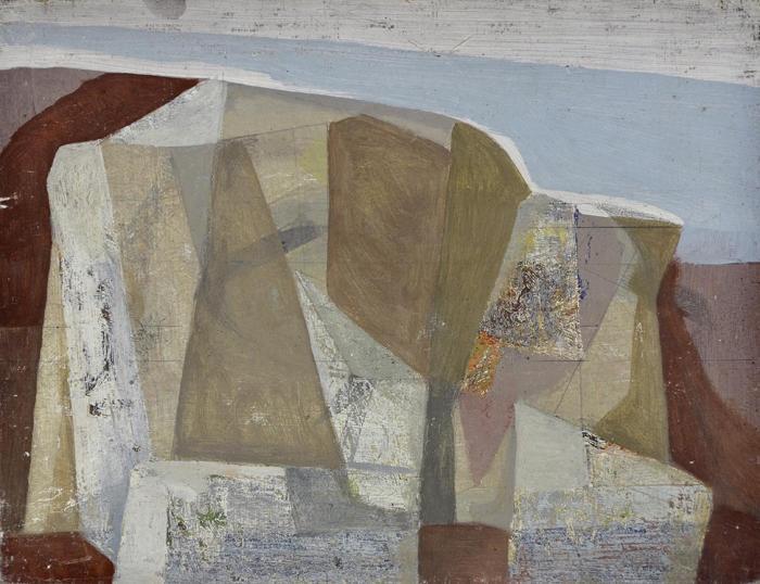 Untitled, c. 1954, Oil on hardboard, Wilhelmina Barns-Graham - The Scottish…