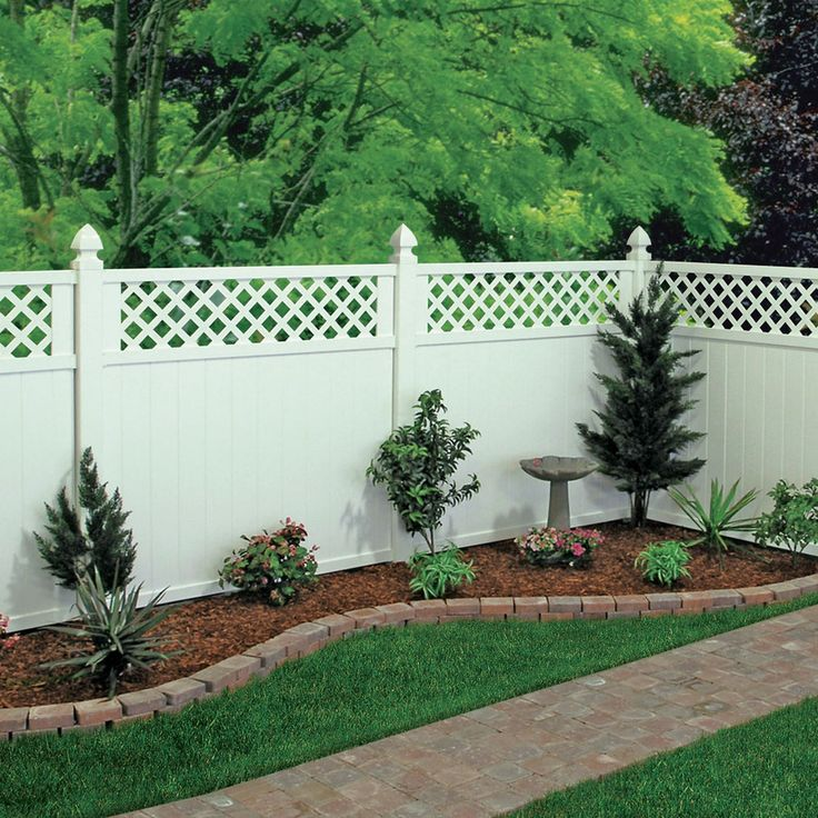 Shop FREEDOM Wellington White Semi-Privacy Vinyl Fence Panel (Common: 6-ft; Actual: 5.65-ft) at Lowes.com