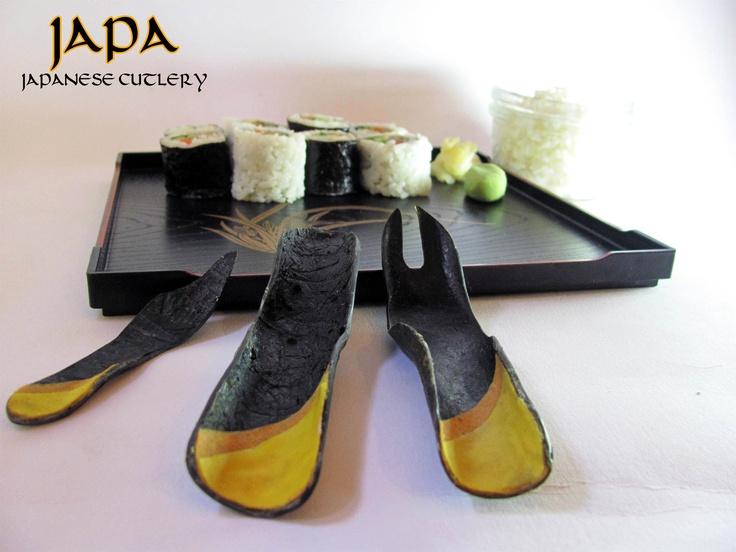 cutlery made of seaweed