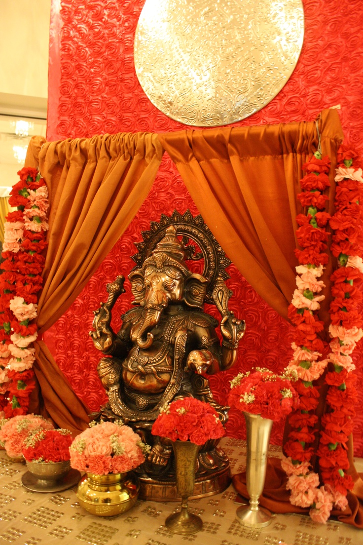 Ganesh welcome table Indian weddings wwwlaxstatescom Indian