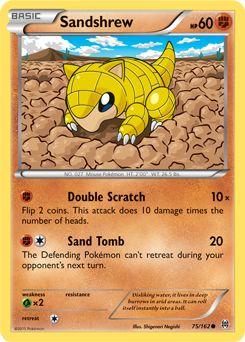 Sandshrew | Basic | Fighting | NO. 027 Mouse Pokemon | 75/162