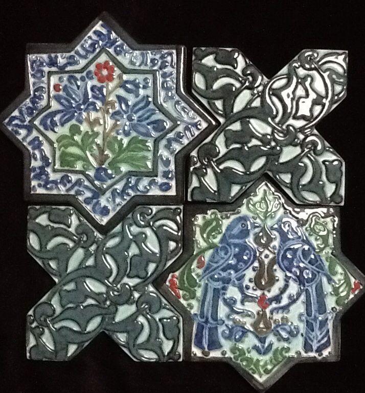 Selcuklu Donemi yildiz pano Tulay Kocaman Hand made ceramic