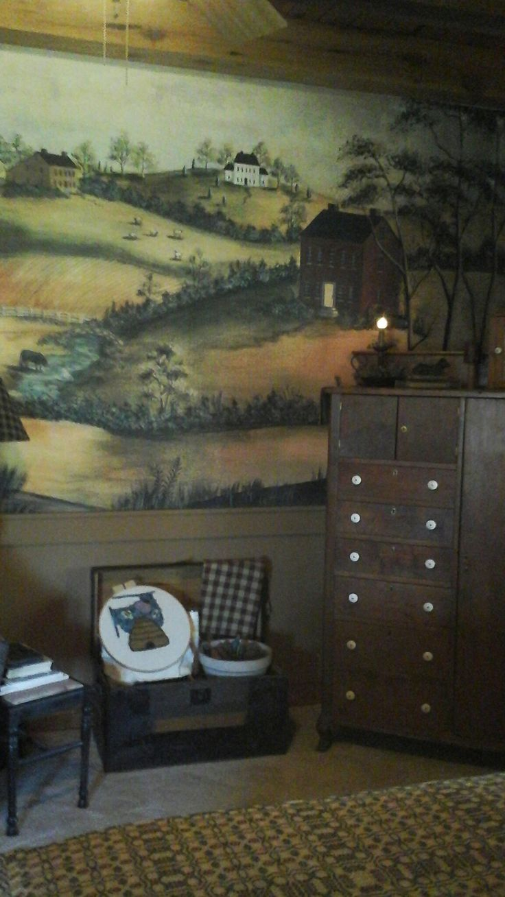 746 best country primative colonial murals stencils images on bedroom haven amipublicfo Images