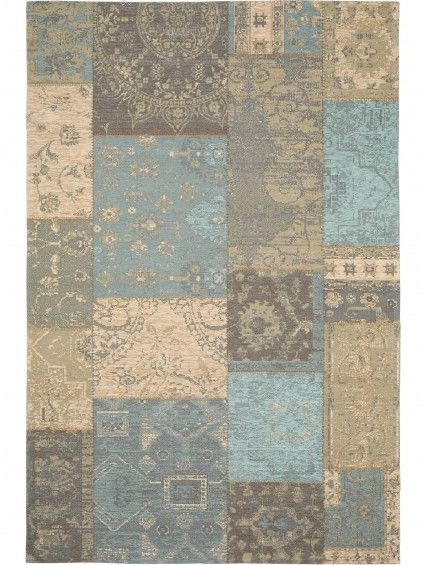 Teppich Vintage Frencie Patchwork Braun