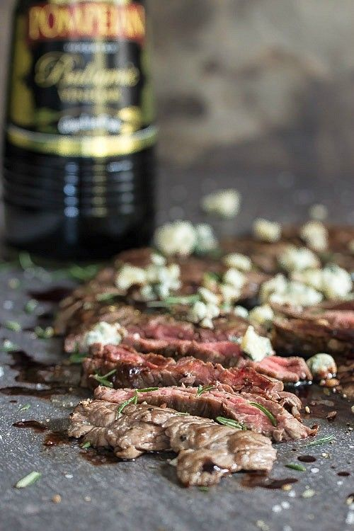 Seared Steak with Blackberry Balsamic - Foodness Gracious