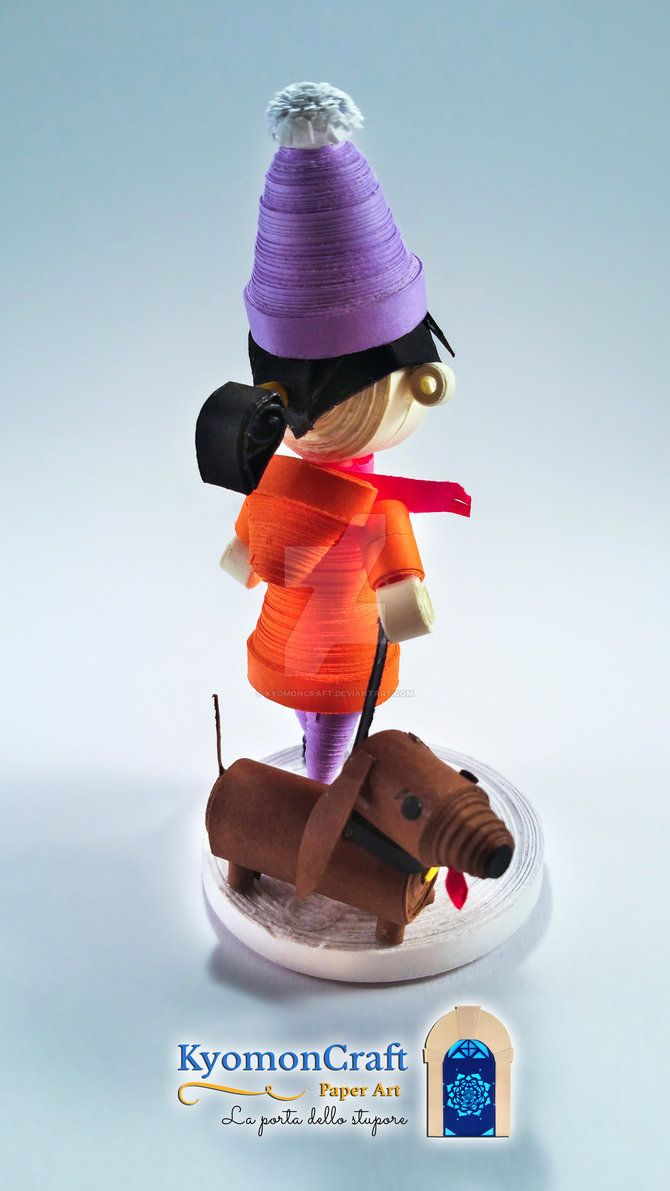 Paper Art Quilling Come on! Let's play in the snow !!! by kyomoncraft on DeviantArt