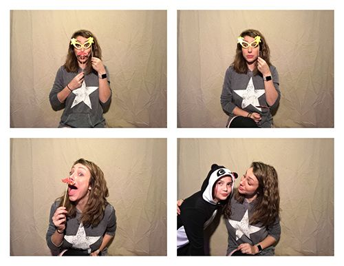 PG Booth, the best diy ipad photo booth app for parties and weddings, photo strip 2x2 example