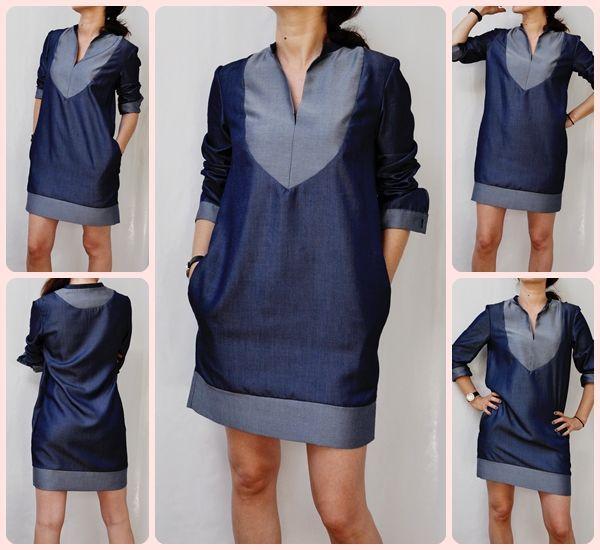 robe en jeans id es couture femme pinterest jeans ps and robes. Black Bedroom Furniture Sets. Home Design Ideas