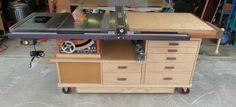 Table Saw Work Station - by phil619 @ LumberJocks.com ~ woodworking community
