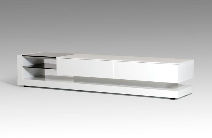 Modrest Mali Modern White TV Stand - Stylish Design Furniture