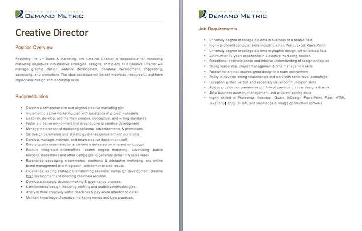 Emt Resume. Job Descriptions Creative Director. Junior Art