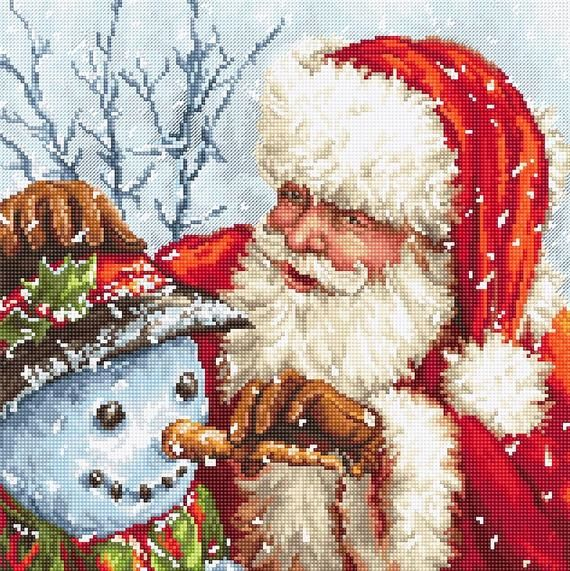 Santa Claus With Snowman Pictures