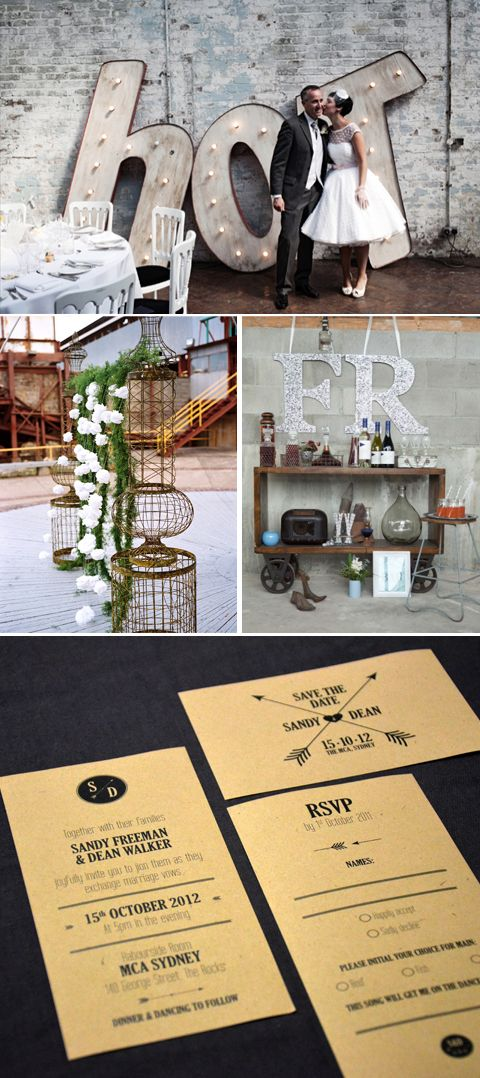 Mrs. Moriarty: INDUSTRIAL WEDDING>>nice style for the venue, and check the dress, too