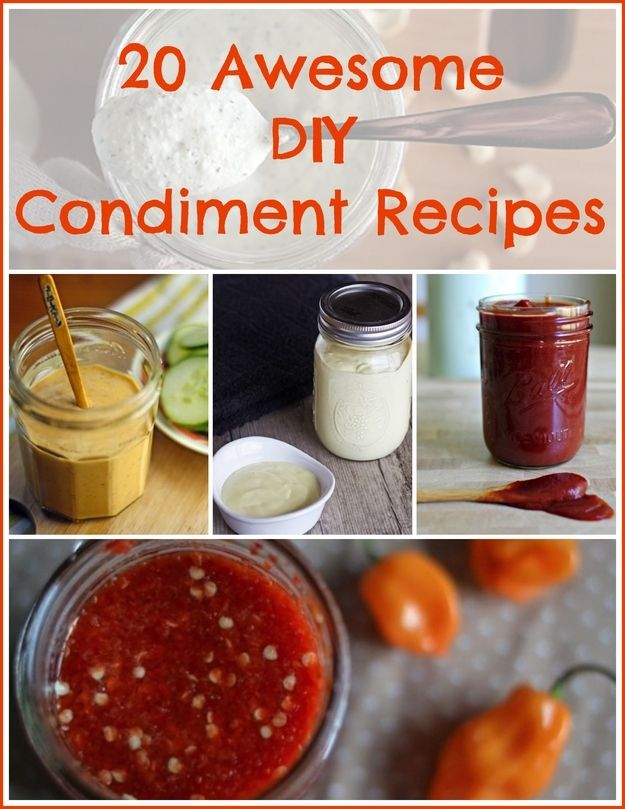 20 Awesome DIY Condiment Recipes I have made a couple of these and am looking forward to making more!!