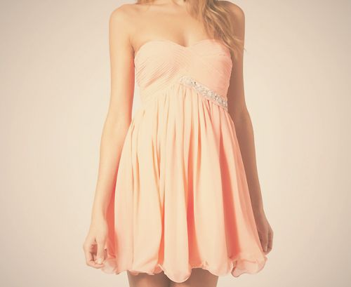 .: Summer Dress, Fashion, Homecoming Dresses, Style, Color, Clothes, Dream Closet, Peach