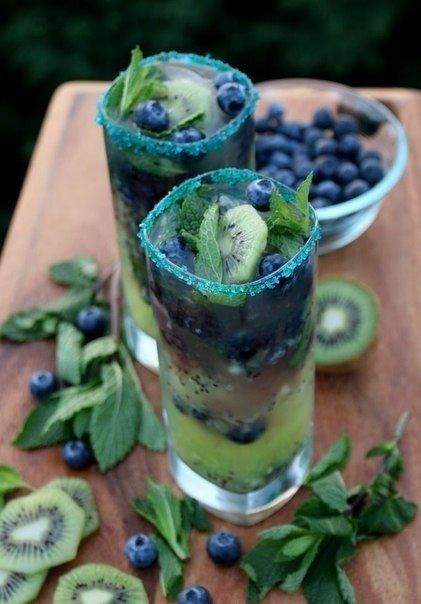 Blueberry mojito [ FryWizard.com ] #drink #fryer #express