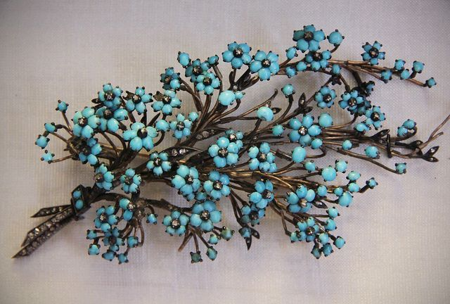 19th-century Forget-Me-Nots: turquoise and diamond, Budapest