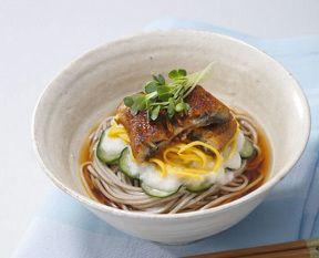 うなぎと錦糸玉子のとろろぶっかけそば|小麦粉&パスタレシピ | 日清製粉グループ