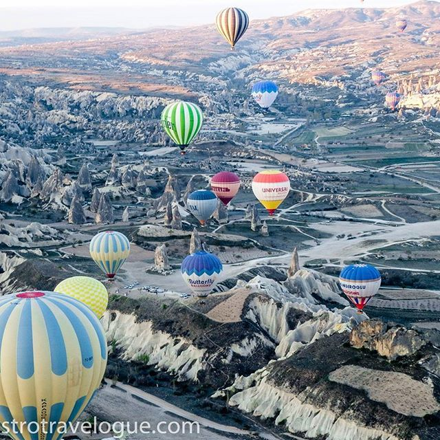 With the dawn the colours change. as the sun kisses Cappadocia it goes through rainbow hues, pinks, purples,oranges, blues and even a touch of red. Seeing the fairy chimneys from a balloon should be on everyone's bucket list. Words can't do justice to the beauty below. #cappadocia #turkey #hotairballoon #travelblogger #travelphotographyoftheday #travelblogger #sunrise #vacation #vacationwolf #instatravel #inspiration #exploretheworld #seetheworld #globetrotter #jetsetter #instapassp...