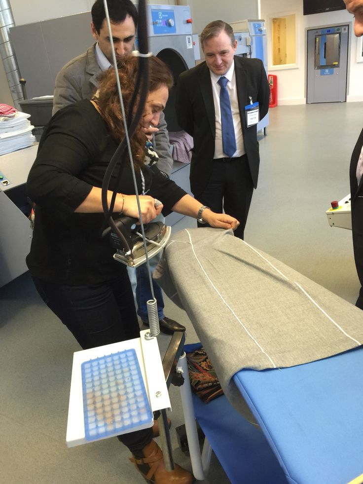 """""""Hands on"""" Lagoon wet cleaning demo at ELS Luton.. www.unitsteam.co.uk"""
