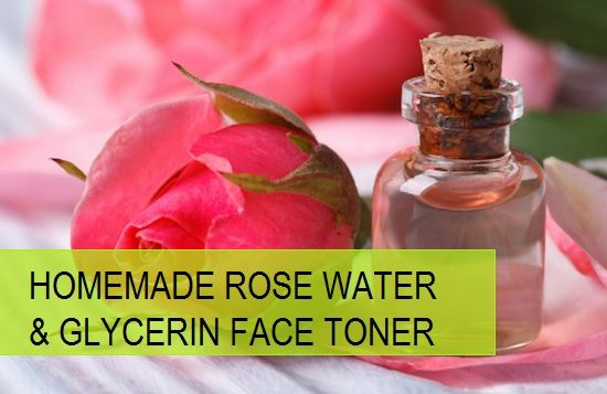 Facial Skin Toner with Rose Water and Glycerin http://tipsandbeauty.com/facial-skin-toner-with-rose-water-and-glycerin/