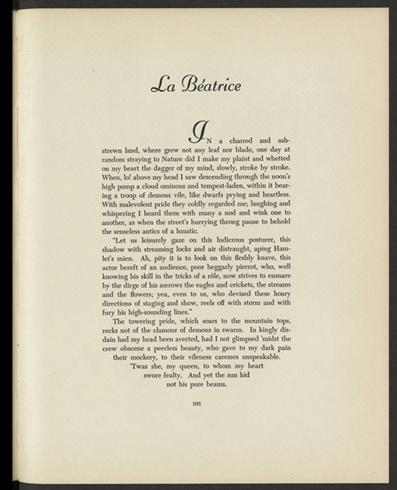 La Beatrice: Life Language, Charles Baudelaire, La Beatrice, Unfortun Events