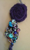 #Collar LilaVert asimetrico - [Musselina] - #handmade by Nadia - detalle_3