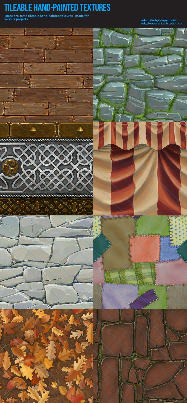 Hand painted textures done for various past projects.