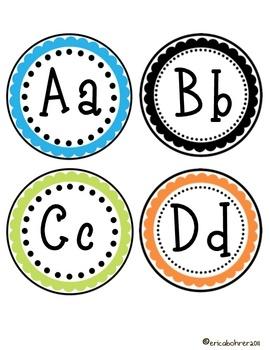 Polka Dot Word Wall Labels - Erica Bohrer - TeachersPayTeachers.com