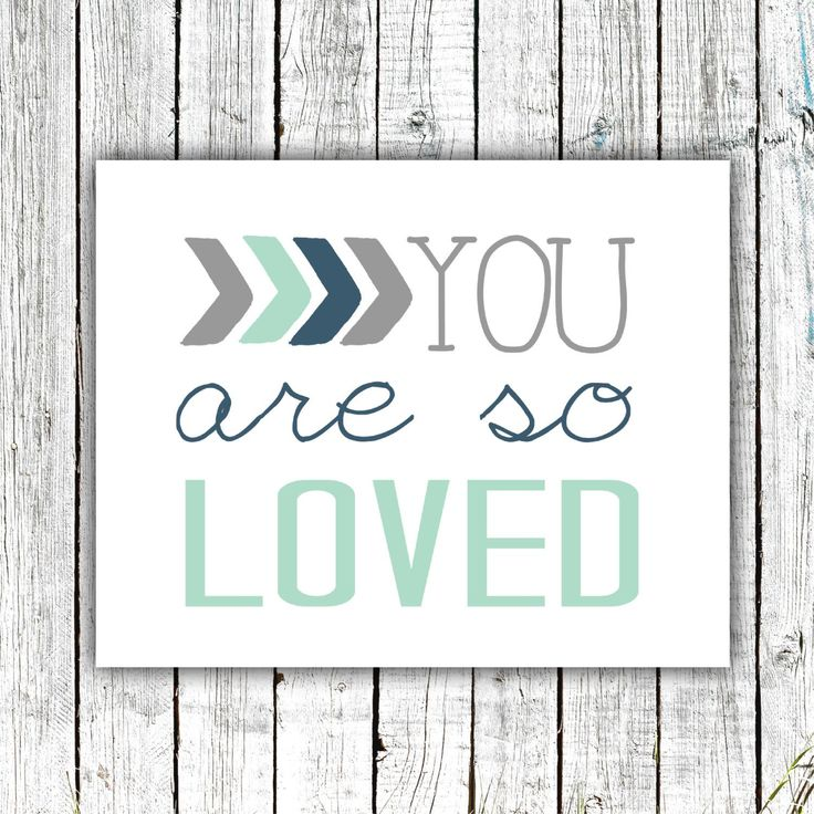 Nursery Art Printable, You are so Loved, Baby Boy Art, Mint Grey and Navy, #512 by ZoomBooneCreations on Etsy https://www.etsy.com/listing/464369228/nursery-art-printable-you-are-so-loved