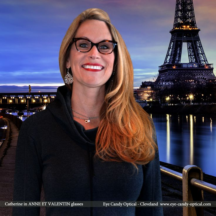 Catherine is romantically French in Paris wearing her new designer glasses by Anne et Valentin. Eye Candy – Has the true love for the Finest European Eyewear Fashion! Eye Candy Optical Cleveland – The Best Glasses Store! (440) 250-9191 - Book an Eye Exam Online or Over the Phone  www.eye-candy-optical.com