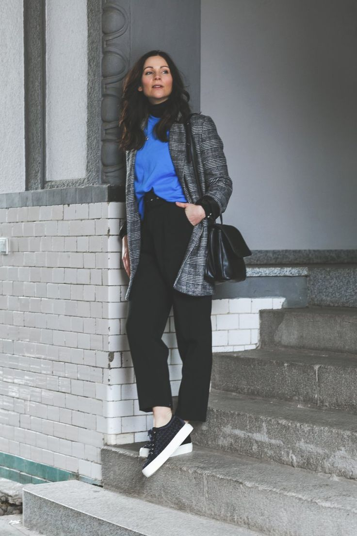 Frühlingsoutfit mit AGL Plateau-Sneakers, karierter Blazer, Edited Sweater, Lüke Schuhe, AGL, Attilio Giusti Lembruni, Matt and Nat Wapi Bag, Outfit Ideen, Outfit mit Sneakers, Übergangsoutfit, Modetrend Winter, Modetrend Frühling, www.kleidermaedchen.de, Modeblog, Mode Blog, Erfurt, Thüringen, Fashion Blog, Magazin, Blogazine, Influencer Marketing und Kommunikation, Social Media Marketing, Fashion Magazin, Outfit Blog, Outfit 2018, Streetstyle, Pinterest Outfit Inspiration