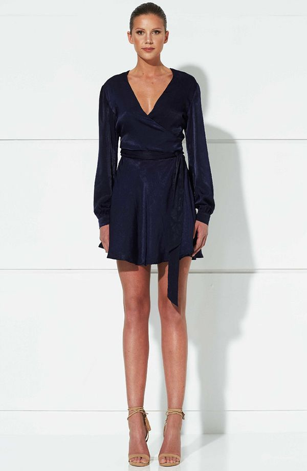 Winona - Aura Wrap Dress - Navy