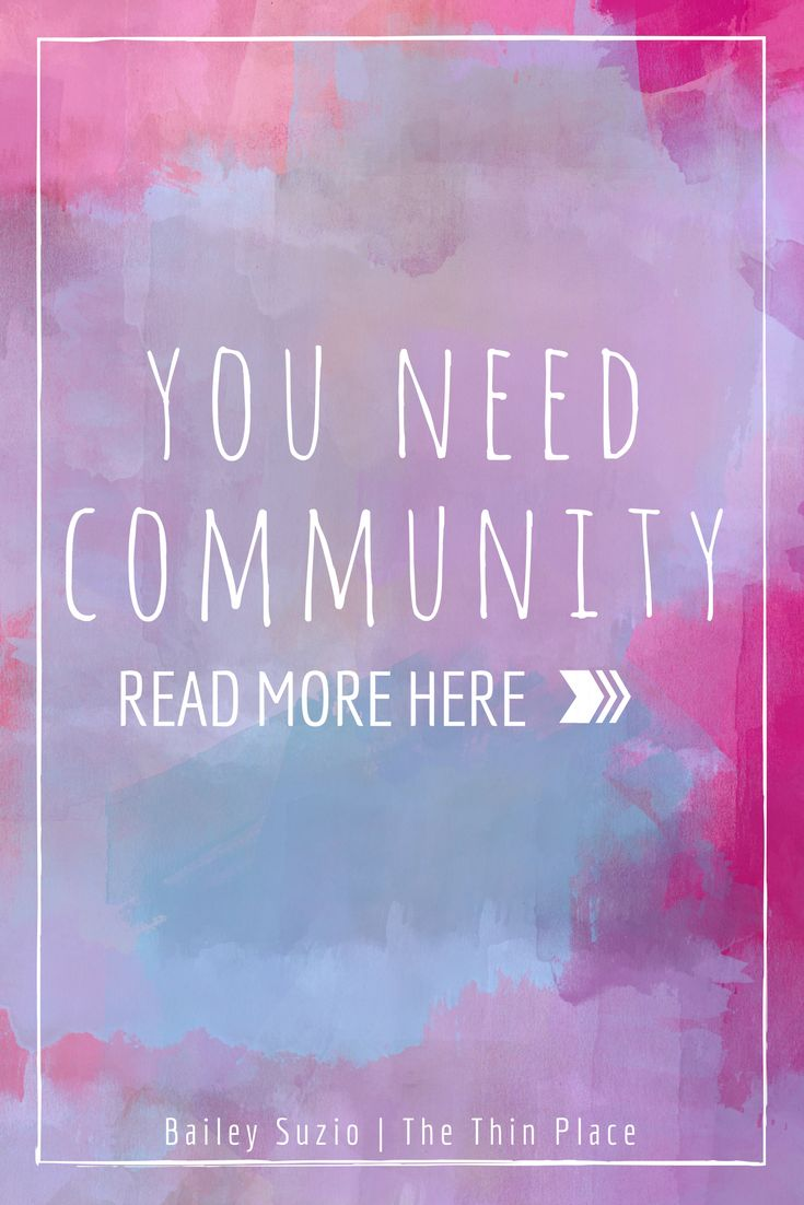 Pentecost: We Need Community - The Thin Place