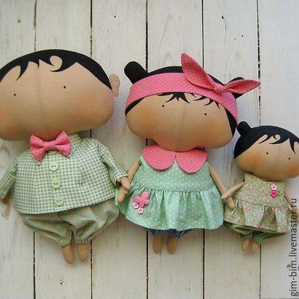 Куклы Тильды ручной работы. Ярмарка Мастеров - ручная работа. Купить СЕМЬЯ Sweetheart Dolls. Handmade. Мятный, семья кукол