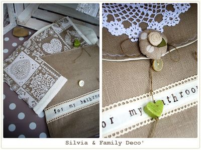 Set da bagno http://silviaefamilydeco.blogspot.it/