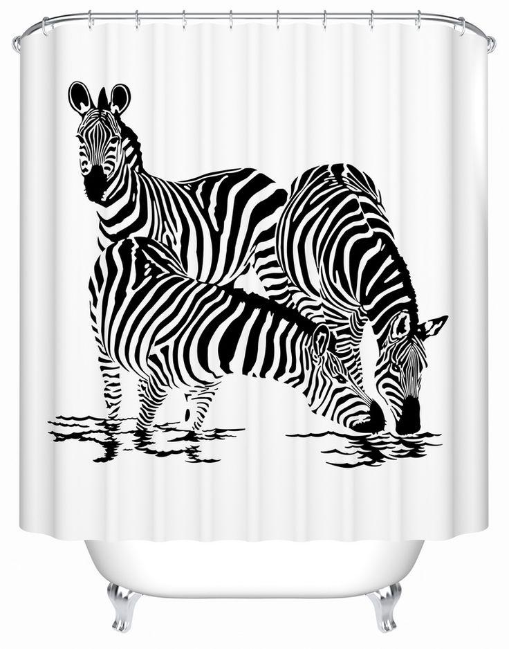 Zebra moda Espessamento Impermeável Cortina de Chuveiro Cortina Cortinas de Tecido Para Cortinas de Chuveiro Do Banheiro Pano Home Decor em Cortinas de chuveiro de Home & Garden no AliExpress.com | Alibaba Group