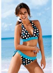 Bikini 2 piezas mujer estampado topos