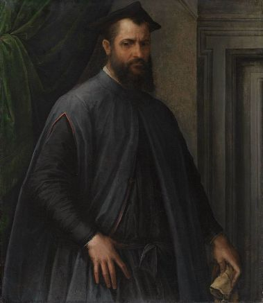 Jacopino del Conte - A Prelate, circa 1540.  Museum of Fine Arts, Boston, 1999.1042. Jacopino del Conte, 1515-1598.