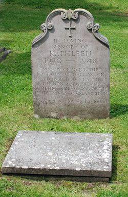 Kathleen Agnes Kick <i>Kennedy</i> Cavendish, grave at Chatsworth House, Derbyshire, England. Sister of John F Kennedy