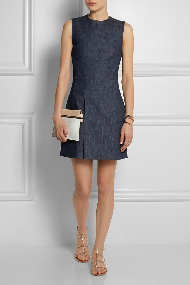 Victoria Beckham Denim|Denim mini dress|NET-A-PORTER.COM