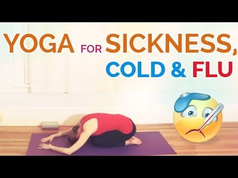 Yoga for sickness via BrettLarkin.com Are you super stuffy? Sick? Or just really stressed out? If you're congested but tired on laying in bed, this yoga sequ...