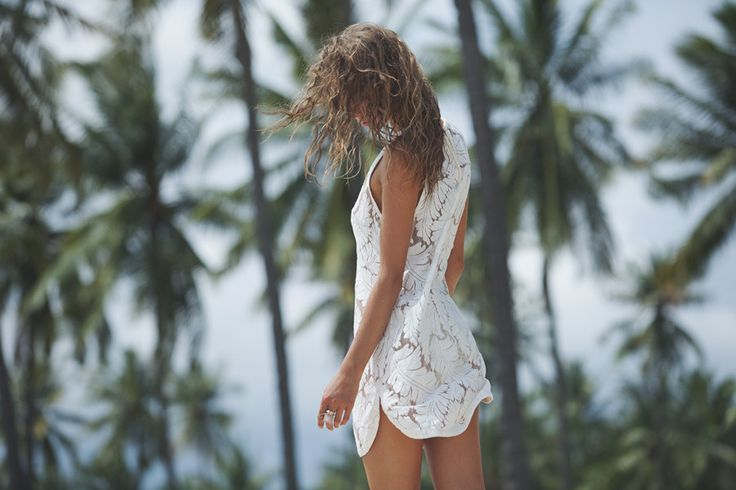 Rosa Dress Cream goddess of babylon | white | lace | tan | summer | palm | trees | holiday | island | tropical