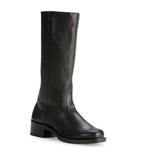 Frye Campus 14L zwart laarzen met blokhak -  Frye Boots in the color Black. International shipping -> free shipping in Europe. http://www.boeties.nl/frye-campus-14l-zwart