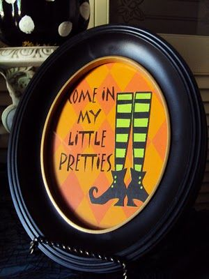 Ms Smartie Pants - Cool Halloween picture in frame. You could make