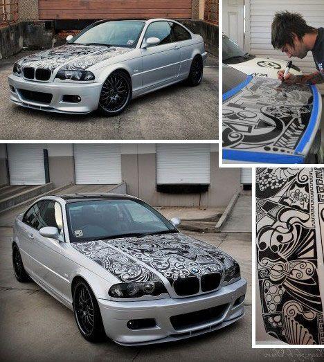 Best WD Car Graphics Images On Pinterest Car Wrap Car And - Custom vinyl car hood decalscar side and hood decal custom body vinyl sticker urban geometric